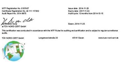 博厚电机母公司东莞市博顺实业顺利通过:TS16949 德国TUV年度审核